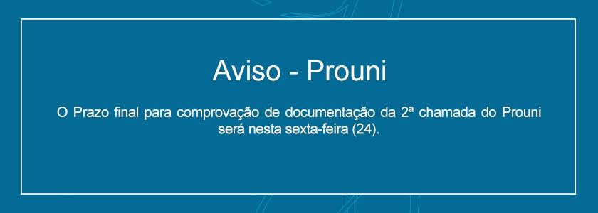 Aviso Prouni