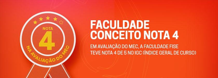 Faculdade Conceito Nota 4