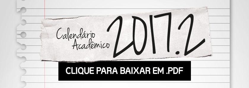 Calendário Acadêmico 2017.2
