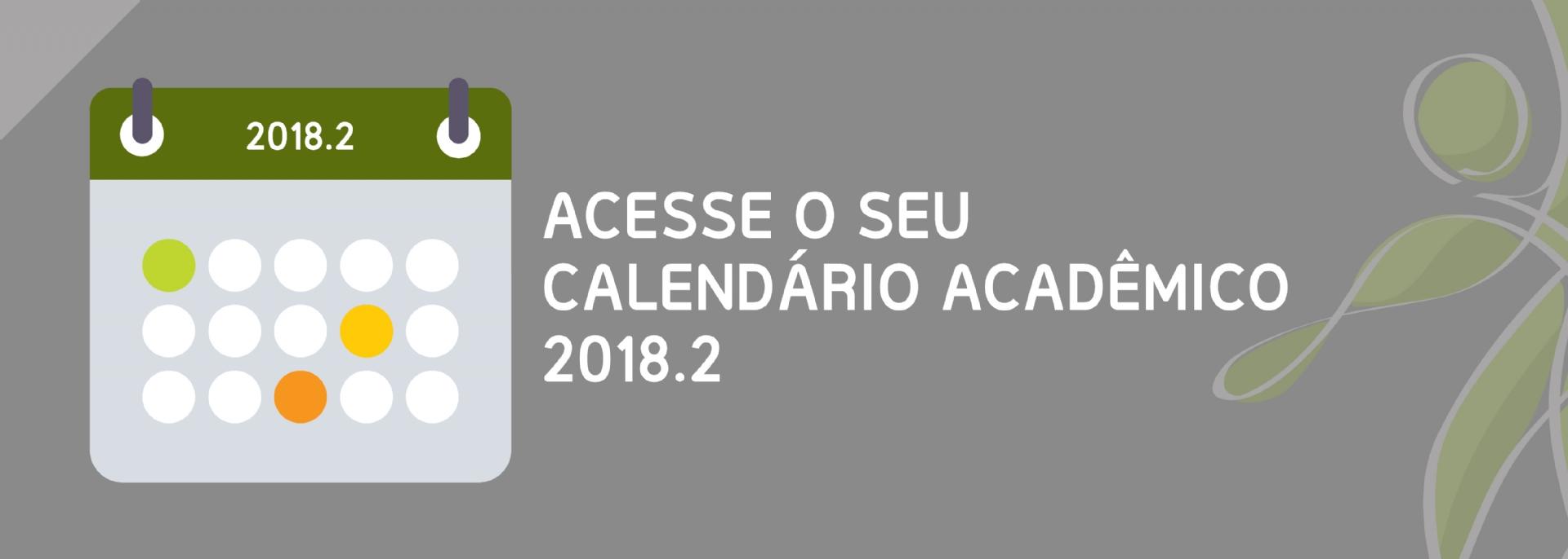 Calendário Acadêmico 2018.2